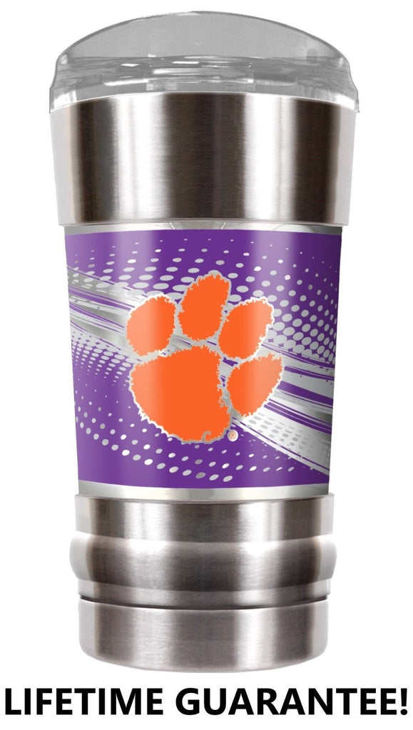 CLEMSON VACUUM INSULATED STAINLESS STEEL TUMBLER 20OZ TRAVEL MUG TIGERS BPA FREE