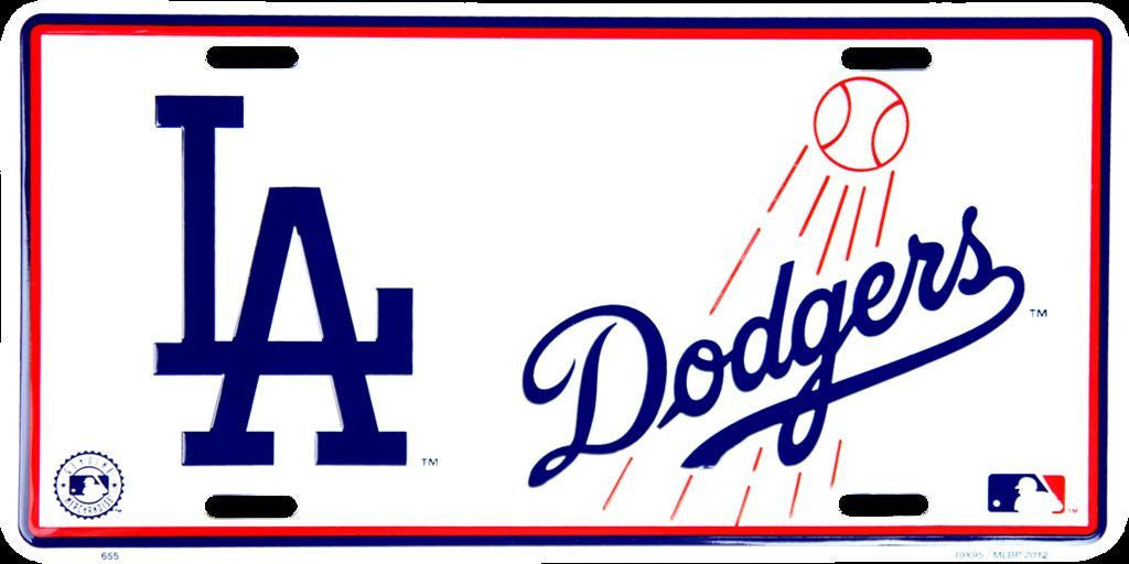 LOS ANGELES LA DODGERS CAR TRUCK TAG LICENSE PLATE EMBOSSED DODGERS METAL SIGN