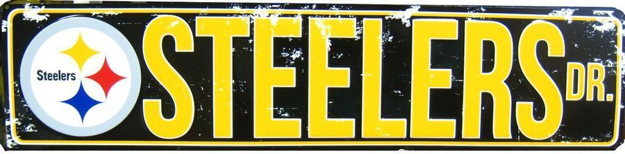 PITTSBURGH STEELERS METAL STREET SIGN DRIVE NFL