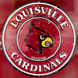LOUISVILLE CARDINALS ROUND SIGN
