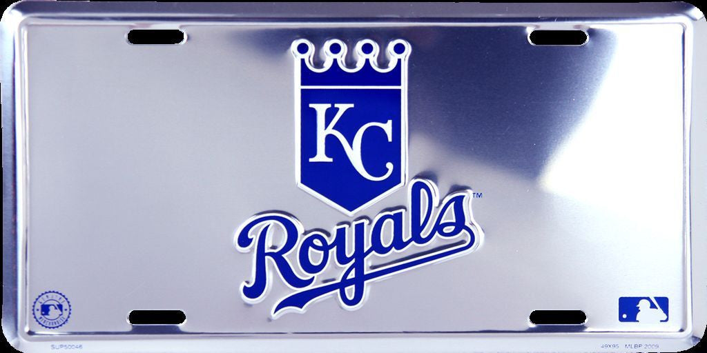 KANSAS CITY ROYALS CHROME LICENSE PLATE
