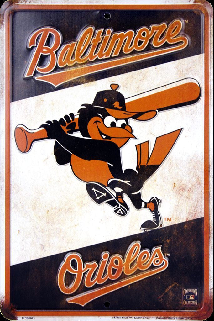 BALTIMORE ORIOLES METAL SIGN RETRO VINTAGE PARKING SIGN
