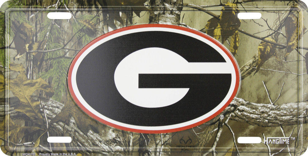 GEORGIA BULLDOGS CAMO LICENSE PLATE