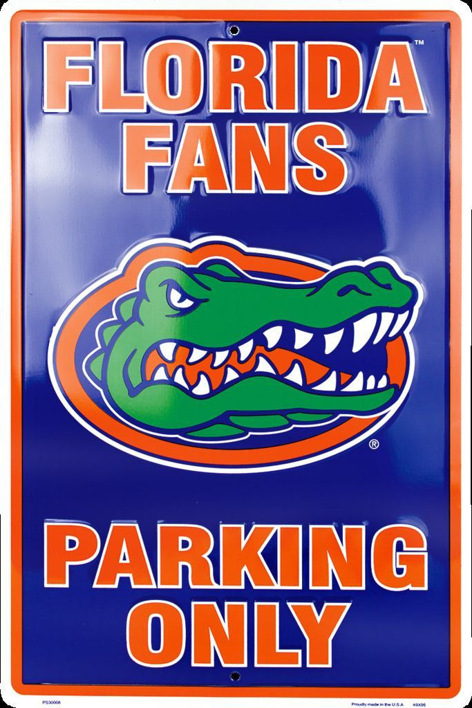 FLORIDA GATORS FANS PARKING ONLY LARGE