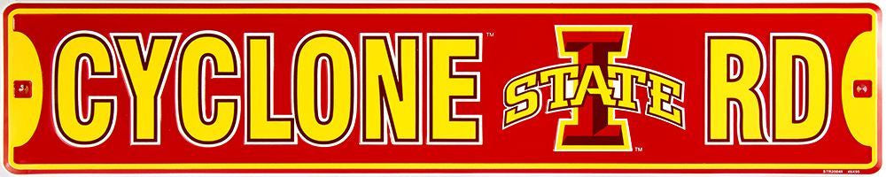 IOWA STATE UNIVERSITY CYCLONES METAL STREET SIGN CYCLONE RD
