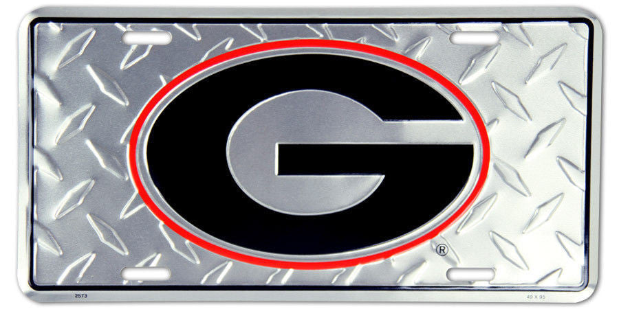 GEORGIA BULLDOGS DIAMOND LICENSE PLATE SIGN #2573