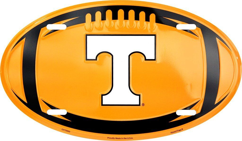 TENNESSEE VOLS OVAL LICENSE PLATE