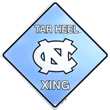 NORTH CAROLINA TAR HEELS METAL TAR HEEL XING SIGN