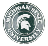 MICHIGAN STATE UNIVERSITY ROUND SIGN