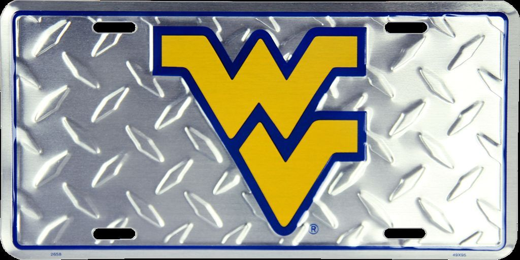 WEST VIRGINIA CAR TRUCK TAG DIAMOND LICENSE PLATE MOUNTAINEERS METAL SIGN