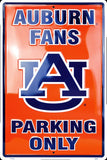 AUBURN TIGERS FANS PARKING ONLY LARGE 12