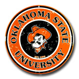 Oklahoma State Cowboys Round Sign