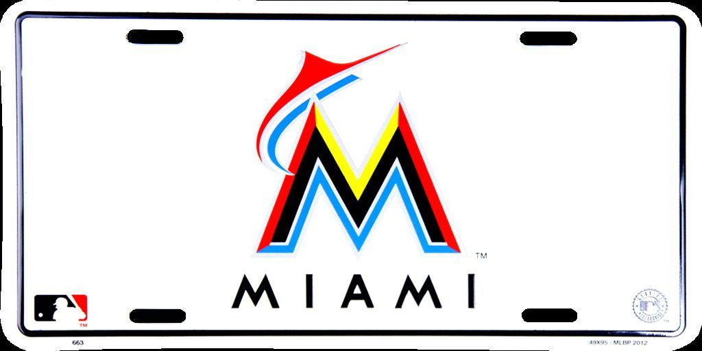 MIAMI MARLINS LICENSE PLATE