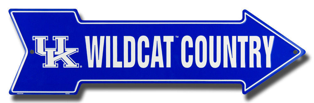 KENTUCKY WILDCATS COUNTRY ARROW SIGN