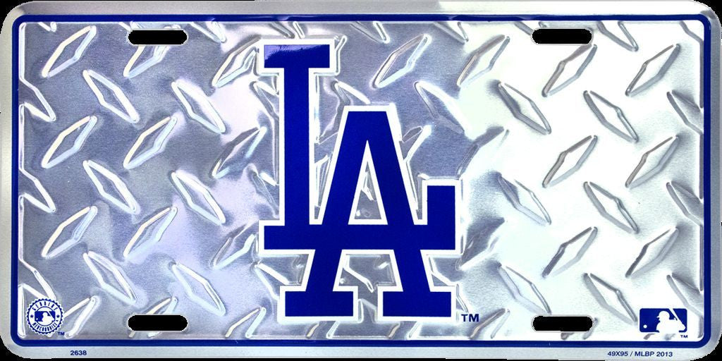 LOS ANGELES DODGERS DIAMOND LICENSE PLATE