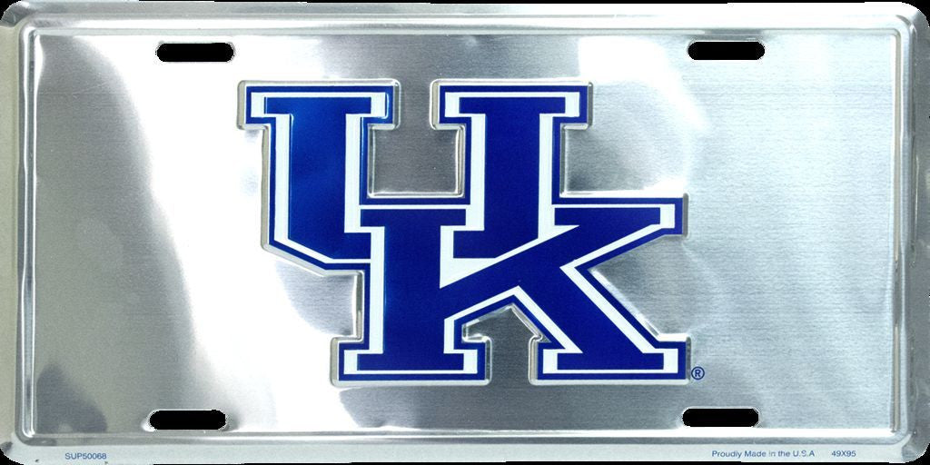 KENTUCKY CHROME LICENSE PLATE