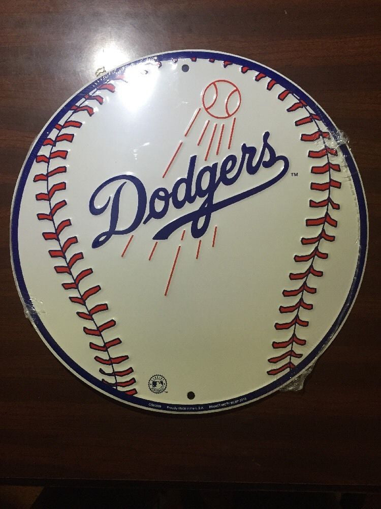 LOS ANGELES DODGERS ROUND BASEBALL SIGN