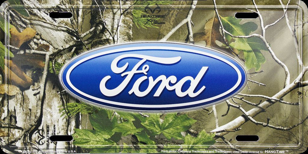 FORD LOGO CAMO LICENSE PLATE REALTREE CAMOUFLAGE