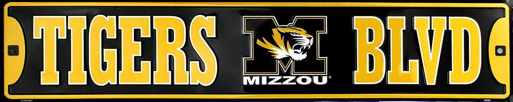 MISSOURI TIGERS STREET SIGN