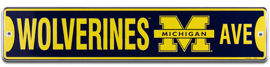 MICHIGAN WOLVERINES WOLVERINES AVE STREET SIGN