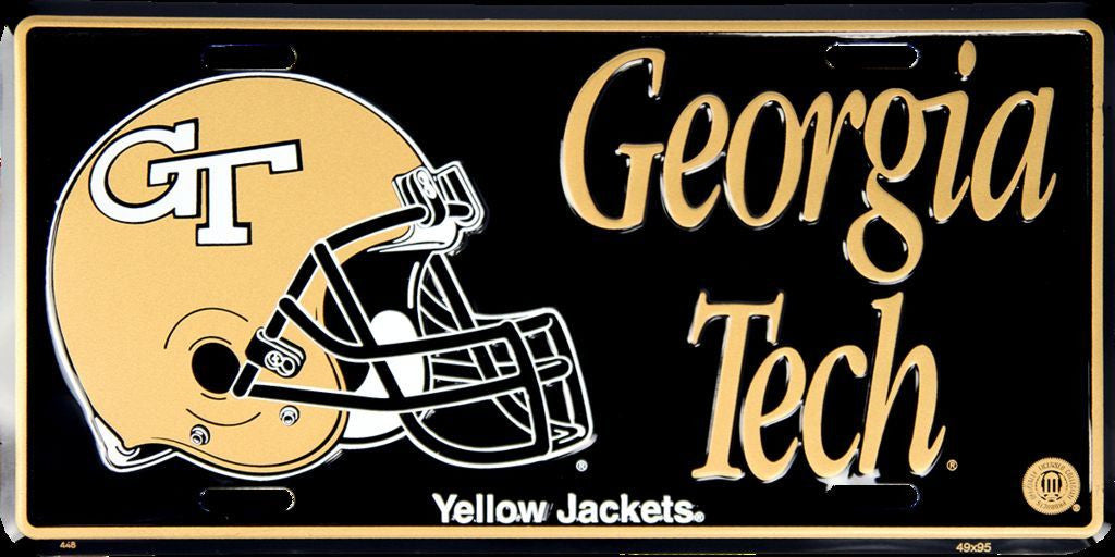 GEORGIA TECH LICENSE PLATE YELLOW JACKETS