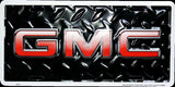 GMC LICENSE PLATE BLACK DIAMOND