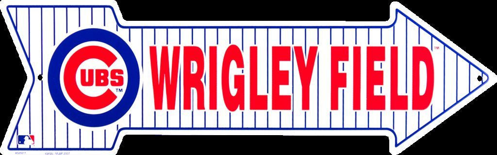 CHICAGO CUBS WRIGLEY FIELD METAL ARROW SIGN