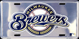 MILWAUKEE BREWERS CHROME LICENSE PLATE