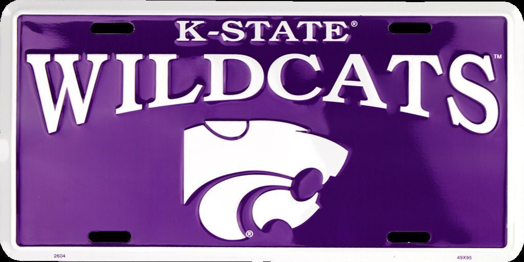KANSAS STATE WILDCATS LICENSE PLATE