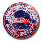 Ole Miss Rebels Round Sign
