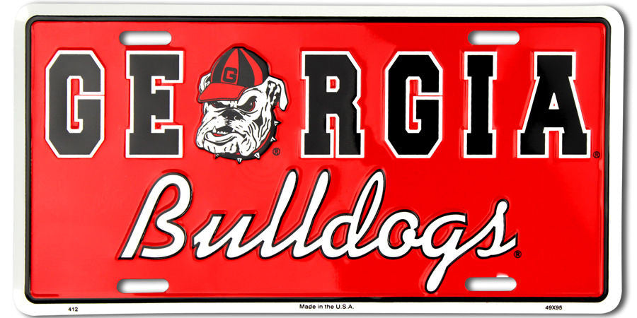 GEORGIA BULLDOGS LICENSE PLATE