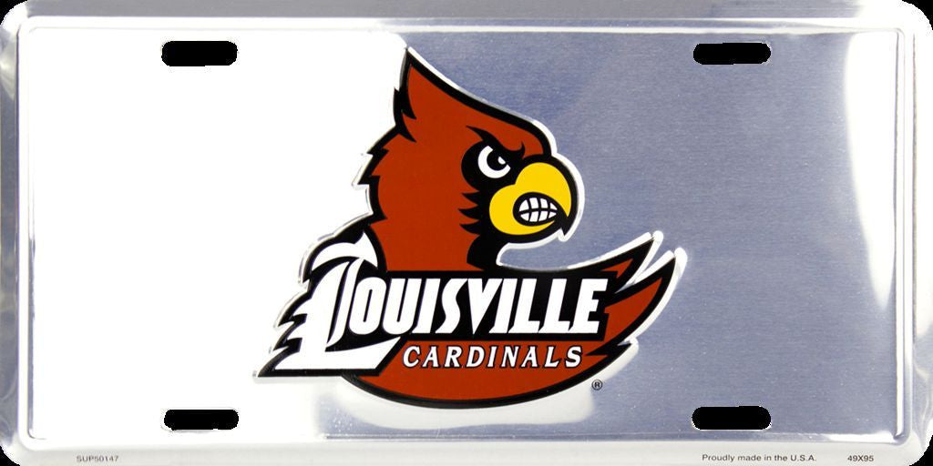 LOUISVILLE CHROME LICENSE PLATE