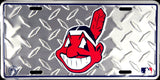 CLEVELAND INDIANS DIAMOND LICENSE PLATE