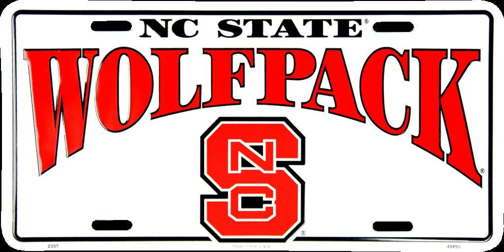 NC STATE WOLFPACK LICENSE PLATE