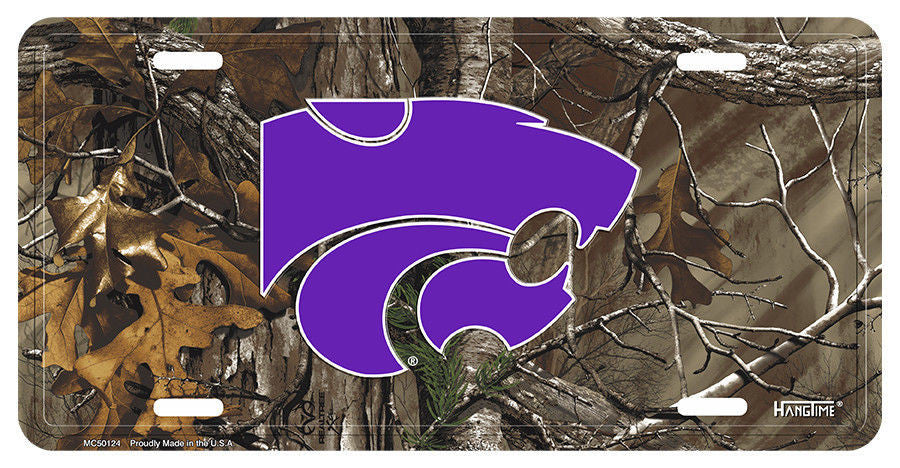KANSAS STATE WILDCATS CAMO LICENSE PLATE