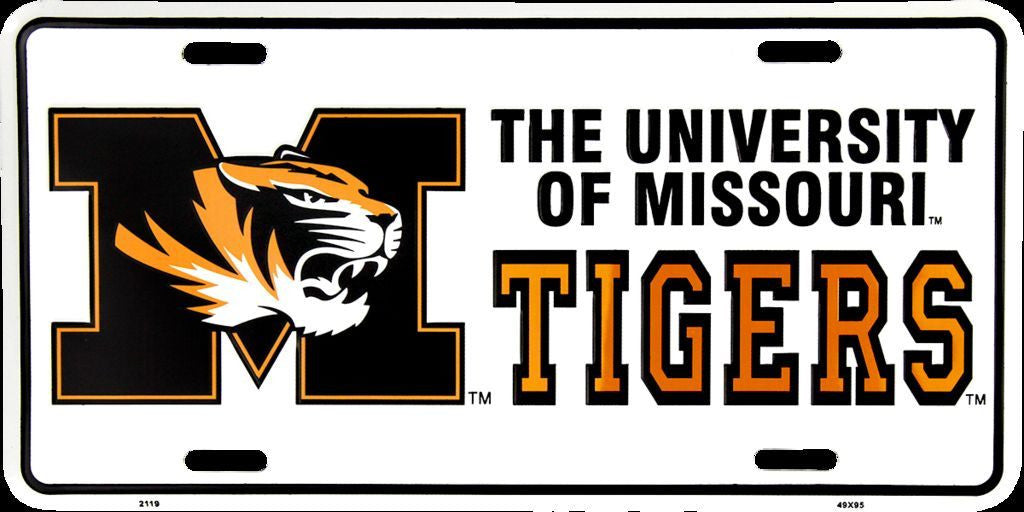 MISSOURI TIGERS LICENSE PLATE