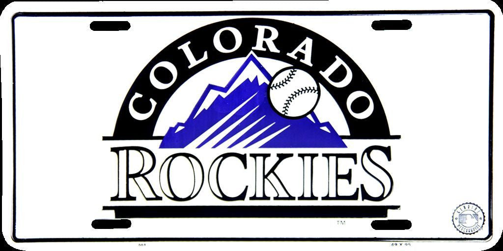 COLORADO ROCKIES LICENSE PLATE