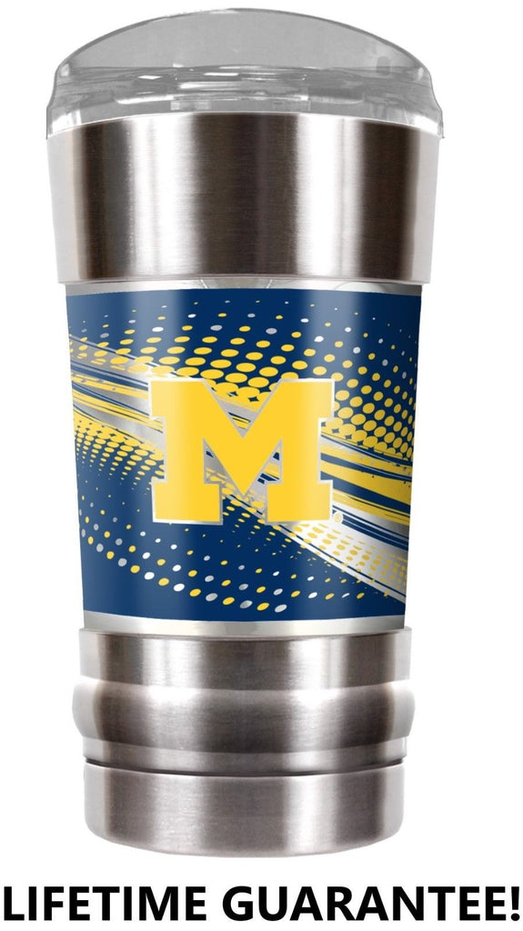 MICHIGAN WOLVERINES VACUUM INSULATED STAINLESS STEEL TUMBLER 20OZ TRAVEL MUG