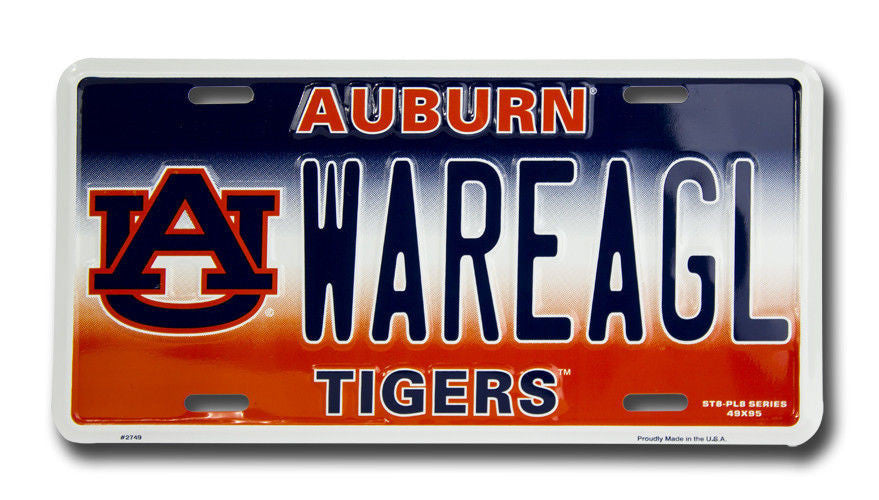 AUBURN TIGERS LICENSE PLATE WAR EAGLE