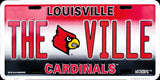 LOUISVILLE CARDINALS THE VILLE LICENSE PLATE