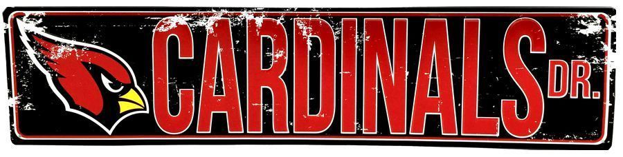 "ARIZONA CARDINALS METAL STREET SIGN 24"" X 5.5"""