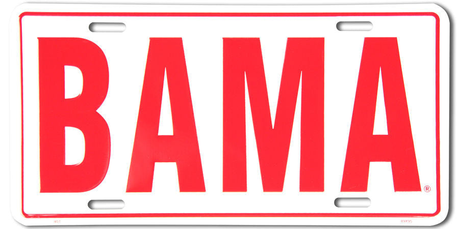 ALABAMA LICENSE PLATE BAMA