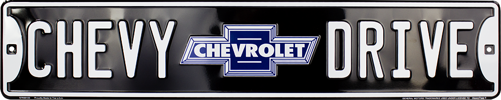 CHEVY DRIVE STREET SIGN EMBOSSED METAL