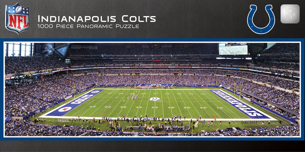 INDIANAPOLIS COLTS STADIUM PANORAMIC JIGSAW PUZZLE NFL 1000 PC