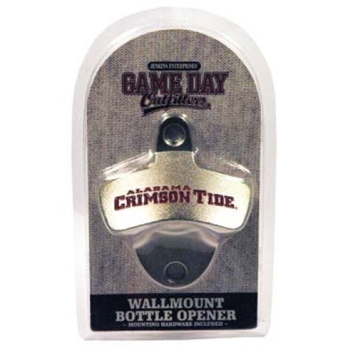 ALABAMA CRIMSON TIDE WALL MOUNT BOTTLE OPENER HARDWARE INCLUDED
