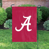 Alabama Crimson Tide Garden Flag Applique Embroidered Premium Full Size Heavyweight