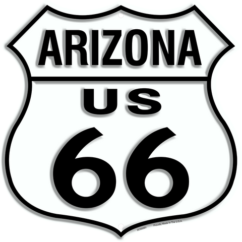 "US ROUTE 66 11 X 11"" SHIELD METAL TIN EMBOSSED BULLET DISTRESSED SIGN GARAGE"