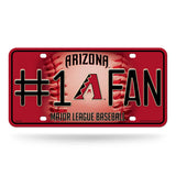 ARIZONA DIAMONDBACKS #1 FAN CAR TRUCK TAG LICENSE PLATE MLB BASEBALL METAL SIGN