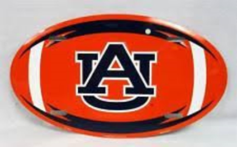 AUBURN TIGERS LICENSE PLATE OVAL