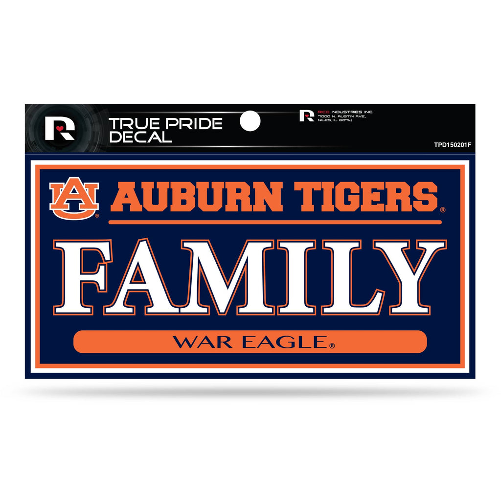 "AUBURN TIGERS TRUE PRIDE DECAL FAMILY WAR EAGLE AUTO 3"" X 6"""
